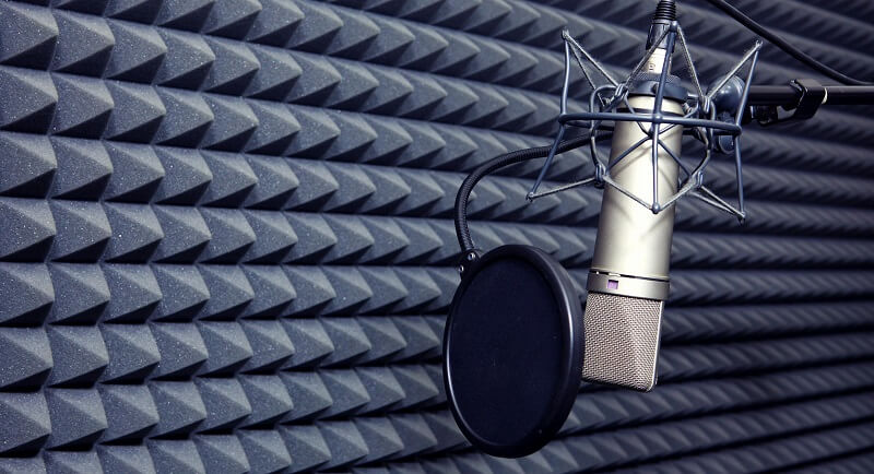 how to record vocals pop filter