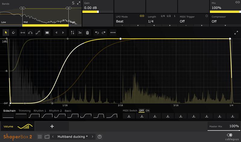 volume shaper