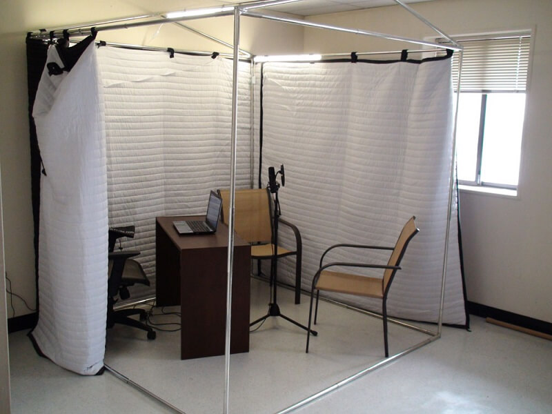 curtain vocal booth