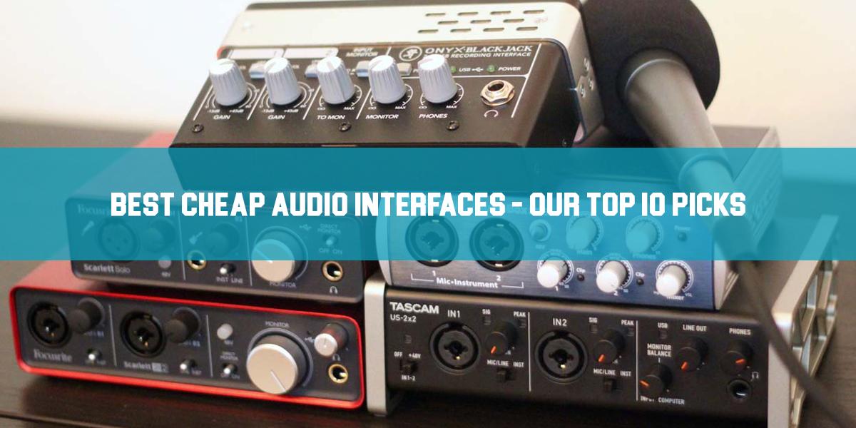 best cheap audio interfaces feat