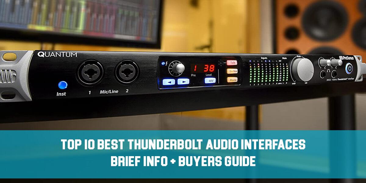 thunderbolt audio interfaces feat